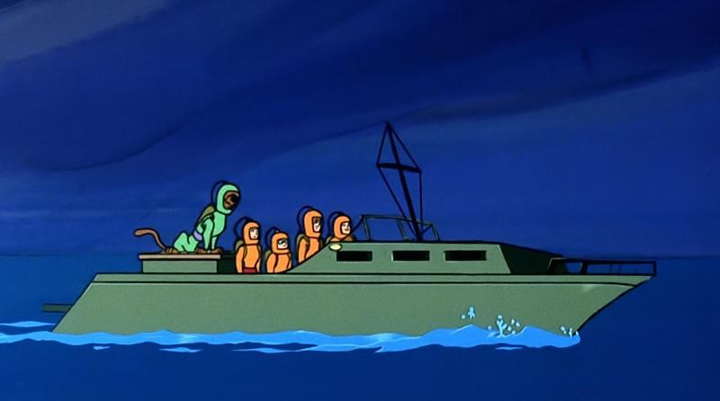 The gang in Scuba Gear