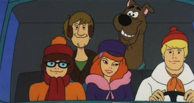 Scooby gang in winter gear