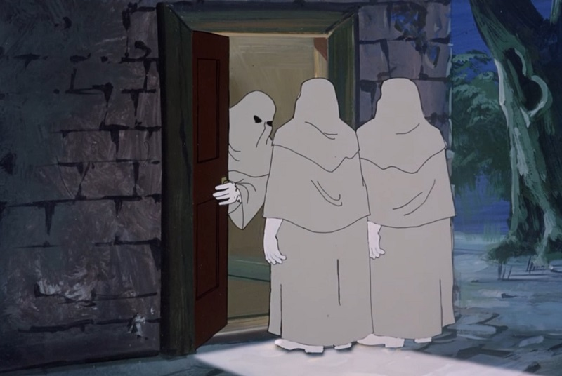 Three Hooded Ghosts
