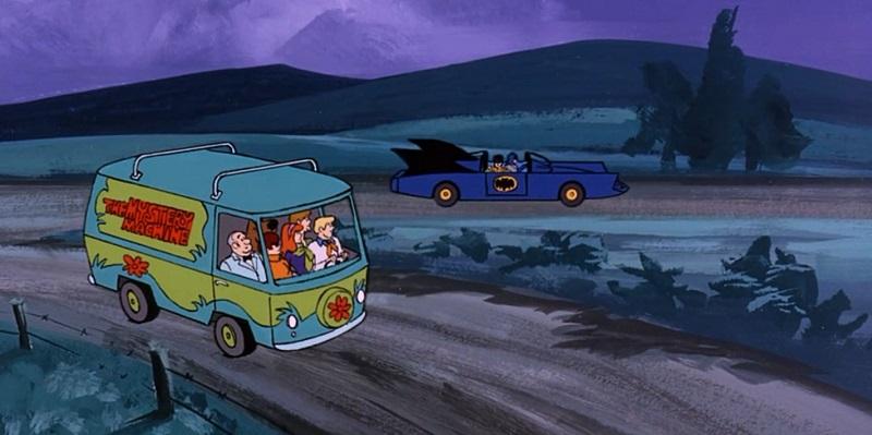 Mystery Machine and Batmobile