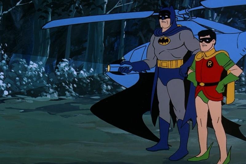 Batman and Robin and Bat Copter