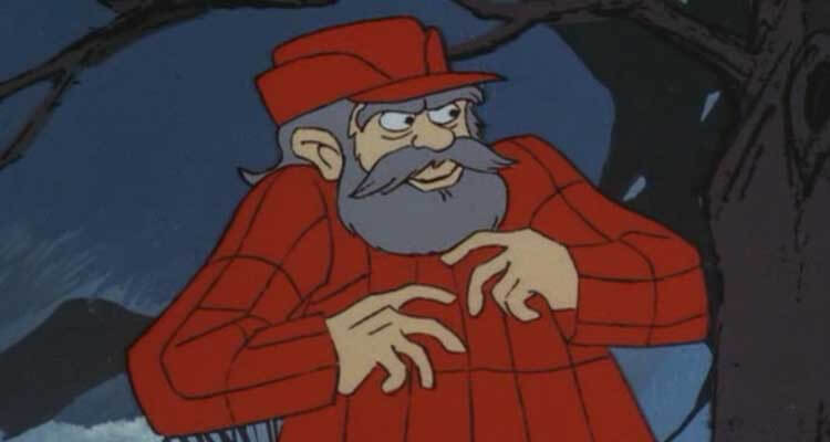Don Knotts as a lumberjack
