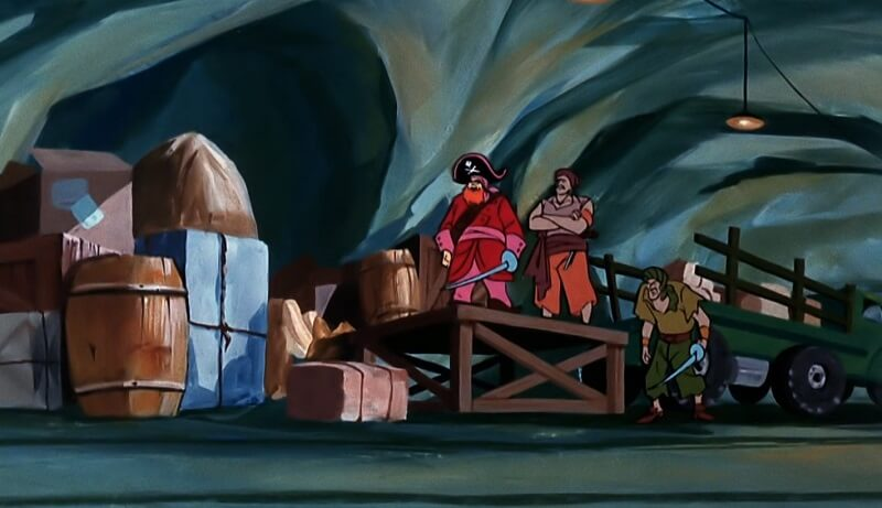 Inside Cave with Pirates