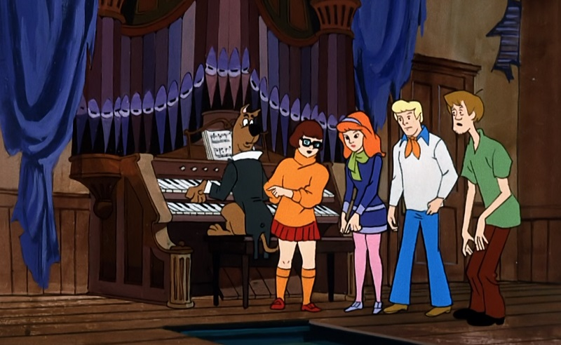 Scooby Playing the Organ