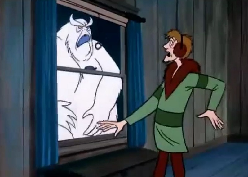 Shaggy Spooked by Snow Ghost