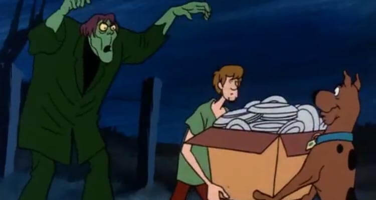 Shaggy taking out the trash