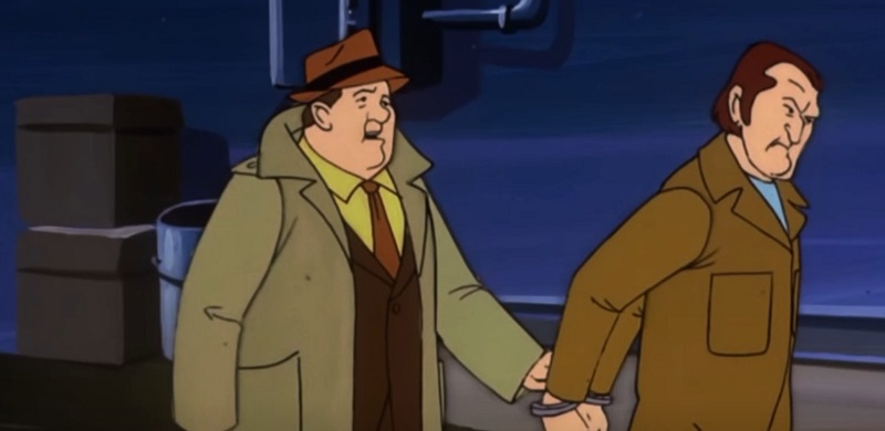 Detective Storm hauling Sterling Smith off to the slammer