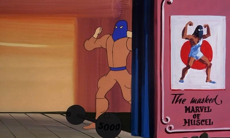 Dick Van Dyke as a Strongman