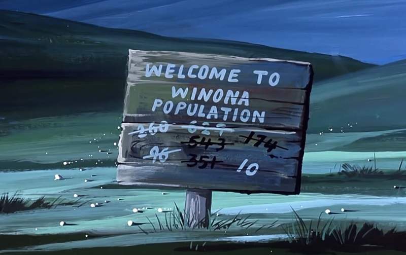 Winona Welcome Sign